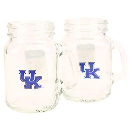 NCAA 4oz Mini Mason Jar Cordial Shot Glass 2-Pack (Kentucky Wildcats)
