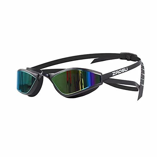ZAOSU Z-Matrix Mirror - Gafas de natación con efecto espejo, color dorado