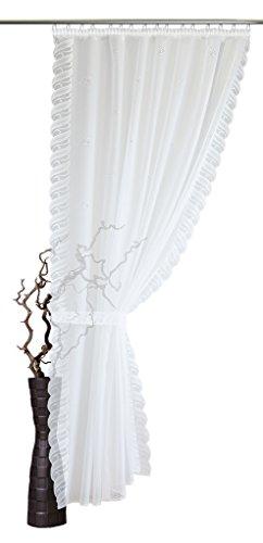 Stores Maßanfertigung Lato Sciarpa Varie Misure, Larghezza: 155cm, Colore: Bianco, Bianco, 225x155 cm H/B