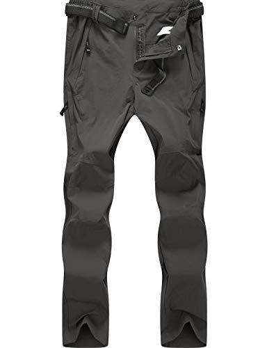 BenBoy Pantalon Montaña Hombre Secado Rápido Impermeable Pantalones Trekking Escalada Senderismo Acampada Transpirables y Ligeros,KZ9948M-Brown-M