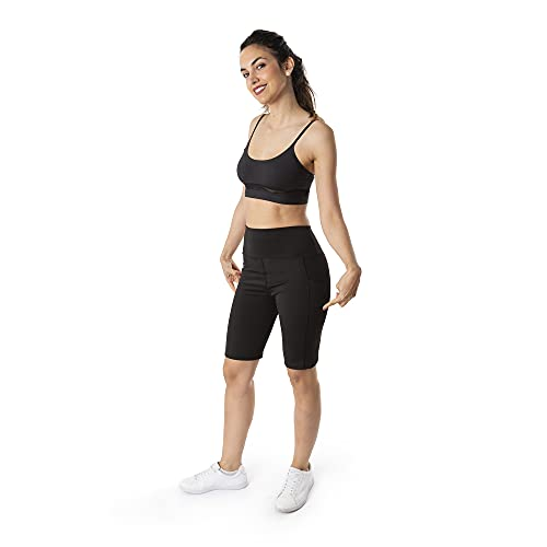 Trendcool Pantalones Cortos Mujer. Pantalones Chandal Mujer. Mallas Cortas Mujer. Short Deportivo Mujer. Shorts Elasticos Fitness Negro (M5, S/M)