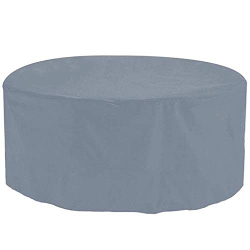 BAOFI Patio Furniture Cover Round 183x70cm, Garden Furniture Covers, Patio Table Covers Garden Furniture Covers Outdoor Fire Pit Circular Tables and Chairs Winter Covers,Gray