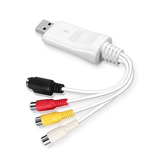 Video Audio Grabber Capture - August VGB300 Convertitore da Hi8 VHS VCR a DVD Digitale Analogico Digitale per Windows  Mac, USB Video Capture Card Converti Videocassette