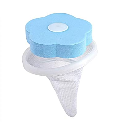 Washing Machine Filter-Washing Machine Lint Filter Laundry Bag Floating Hair Catcher Filter Trapper (Color : Blue)