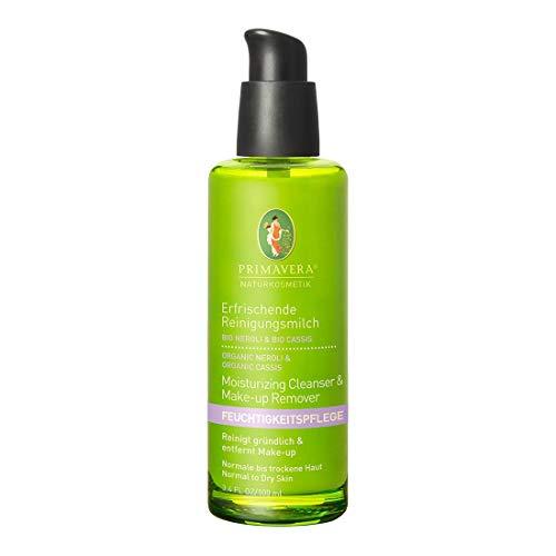 PRIMAVERA Feuchtigkeitspflege Erfrischende Reinigungsmilch Neroli Cassis 100 ml - Naturkosmetik - sanfte Reinigung für normale bis trockene Haut