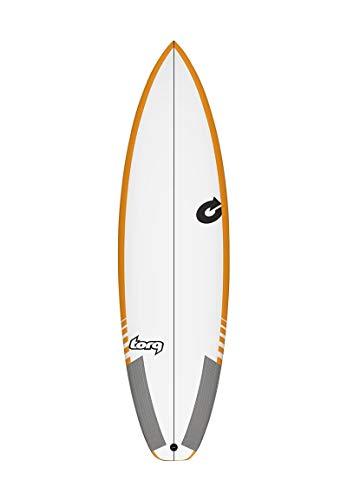 TORQ Tabla de surf Epoxy TEC Comp 6.2 Rail amarillo Performance Shortboard