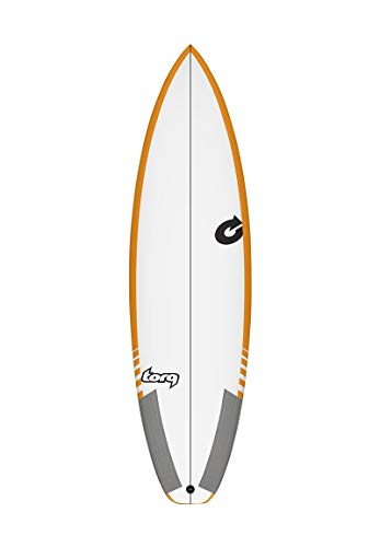 Torq Tabla de Surf Epoxy Tec Comp 5.8 Rail Amarillo Performance Shortboard