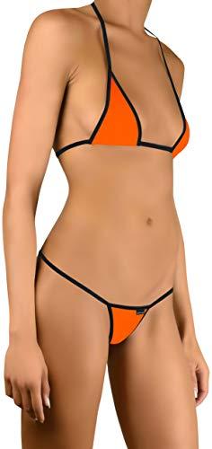 Sohimary 224 Damen Mini Bikini String Tanga XS S M 32 34 36 38 Orange