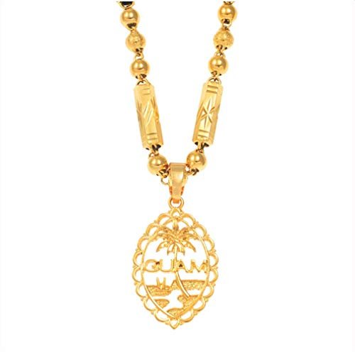 Guam Pendant Bead Necklaces For Women Men Gold Color Guam Jewelry Gifts