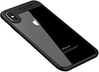 كفر ايفون XR شفاف مع اطار اسود ضد الصدمات ومقاوم للخدوش