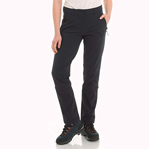 Schöffel Pantaloni da Donna Engadin1 Zip off Comodi ed Elastici da Donna con Funzione Zip-off, freschi e ad Asciugatura Rapida, Donna, 12640, Nero, 44
