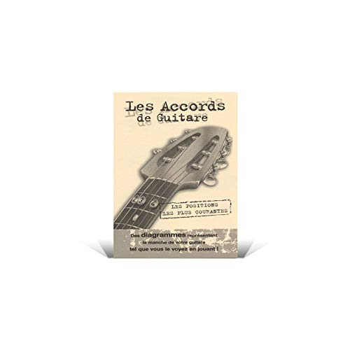 Mini Dictionnaire Accords Guitare avec Presentoir (par 20ex)