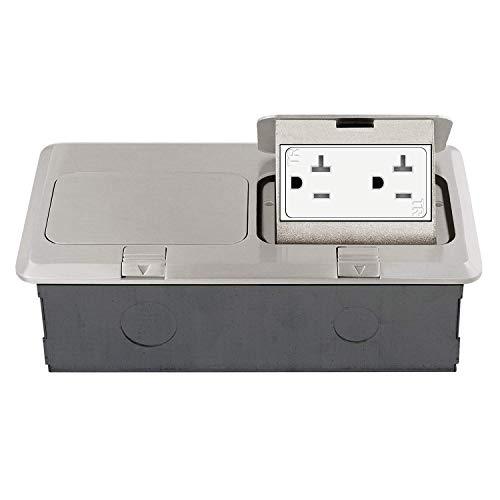 ENERLITES Dual Pop-Up Floor Box