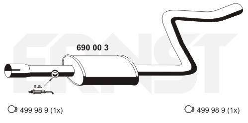 ERNST 690003 Mittelschalldämpfer