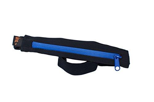 Spibelt Uni S Original pour Belt Water Resistant with Blue Zipper Sac de Course de Performance, Noir, XL