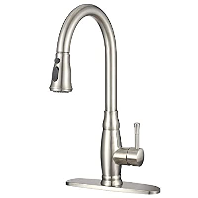 IMLEZON Stainless Steel Kitchen Sink Faucet wit...