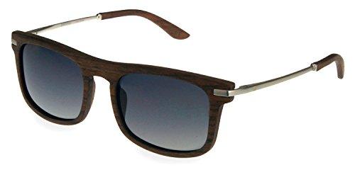retrostiel Holz Sonnenbrille Driver Chrome