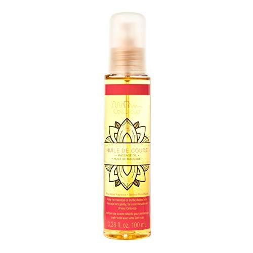 CELLU-CUP'Huile de coude' - Aceite de masaje monoi orgánico - 100% natural - Elasticidad y tonicidad de la piel - Ideal para ventosa anticelulítica - 100ml