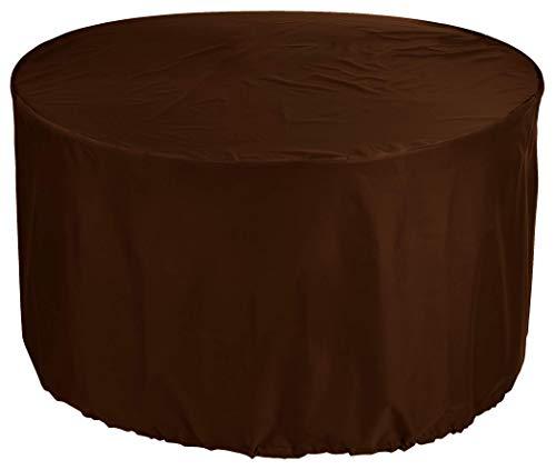 Yulian kbComprar Pirata rotonda Mesa 135x80 cm Ø jardín Mesa de Muebles Polvo en Silla del Patio Mesa Redonda Tela Oxford 600D Impermeable Brown