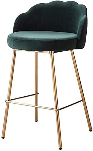 WENLI Adjustable Barstools Bar Stool Modern Heigh Chair Style Bar Chair With Ergonomic Backrest   Green Velvet Seat   Plating Metal Legs   Counter Chair Kitchen Breakfast Barstool Counter Bar Chairs