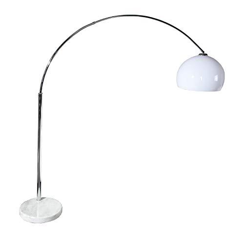 ORIGINAL Retro Design BOGENLAMPE Big Bow Weiss höhenverstellbar XTF Lounge Stehlampe Bogenleuchte