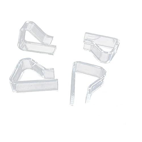 24pcs Transparente Mantel Clips De Plástico Titular De Mesa por Debajo De Los Clips para Fiesta De Boda De Navidad De Interior Picnic Aire Libre