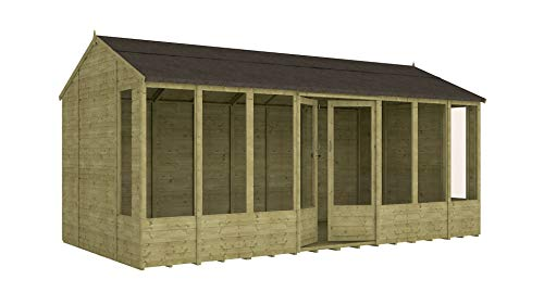 Project Timber 16ft x 8ft Pressure Treated Hobbyist Summerhouse (16 x 8)