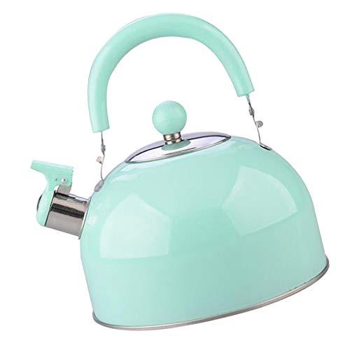 Hervidor De Té Tetera De Acero Inoxidable 2.5L Teteras Silbantes Tetera Estufa De Gas Para Calentar El Agua Rápidamente Tetera, Cocina Pa - Cielo Azul
