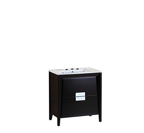 "Bellaterra Home Single White Sink Vanity, 30"""