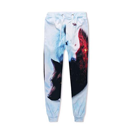 Hhckhxww Primavera Y OtoñO Calzado Estampado En 3D para Hombres Y Mujeres Pantalones Pantalones Deportivos Pantalones Casuales