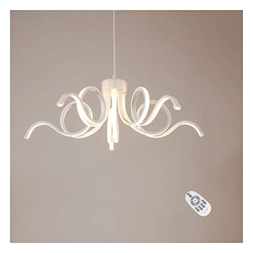 LANLANLife Lámpara Colgante Regulable Moderna, luz Colgante LED Estilo Rizo for Dormitorio, Cocina, Cuerpo de Aluminio acrílico D65CM