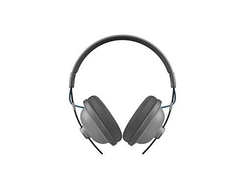 Panasonic RP-HTX80BE-H Bluetooth Kopfhörer (Kopfhörer Retro, 24 h Akkulaufzeit, Over-Ear, Quick-Charge, Sprachsteuerung) grau