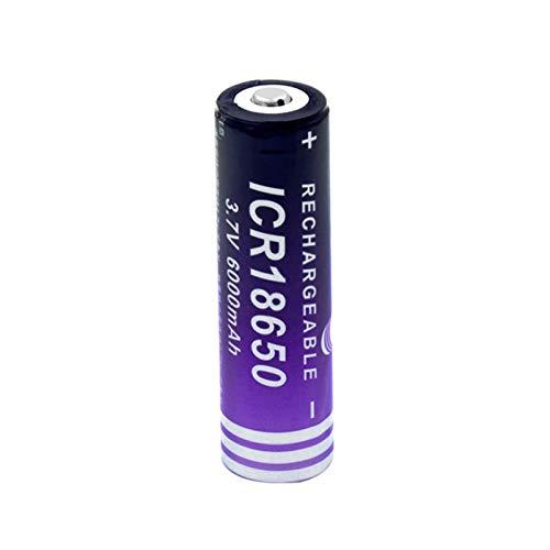 ndegdgswg Batería De ión De Litio De 3.7v 6000mah Icr 18650, Celda De Reemplazo De Alta Capacidad para Linterna De Luz Led 1piece