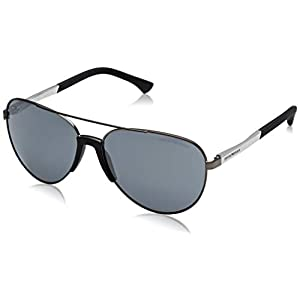 Armani sunglasses for men and women Emporio Armani EA2059 30106G Matte Gunmetal EA2059 Pilot Sunglasses Lens Catego, 61mm