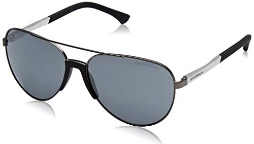 Armani sunglasses for men and women Emporio Armani EA2059 30106G Matte Gunmetal EA2059 Pilot Sunglasses Lens Catego,