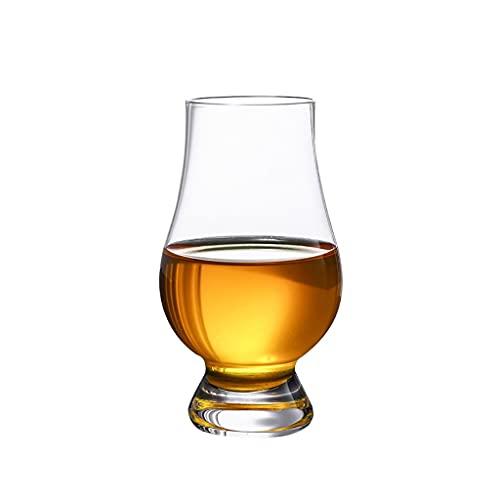 LLCOP Copa de Cristal de degustación de Whisky, Vasos de degustación clásicos, Hechos a Mano, Buenos para coñac Brandy escocés
