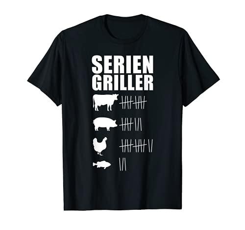 Grillen Griller Wurst BBQ Grill-Fan Männer Seriengriller T-Shirt