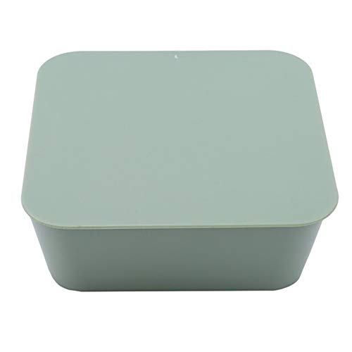 Nologo Ashy-wlj Mural Pâte étanche Boîte de Rangement Plastique carrée de Finition de Stockage Petite boîte cosmétique Vaisselle Brosse à Dents Box (Couleur : Vert)