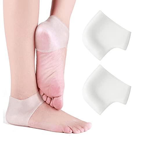 Pinkiou Protezione per il tallone in silicone Protezione per il tallone Maniche per tallone Idratante per la protezione del tallone per la pelle secca e screpolata