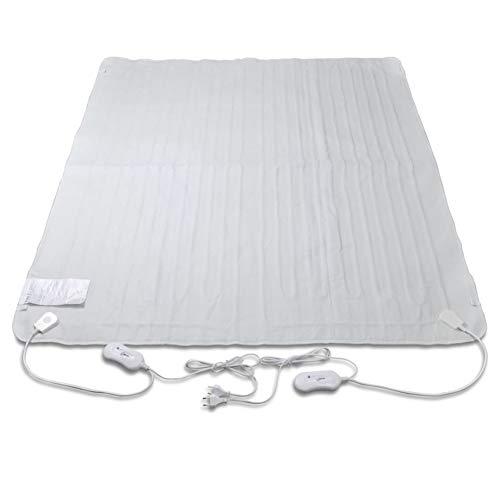 Pissente Almohadilla Eléctrica de 3 Temperaturas, Calentar Rápido y Función de Protección contra Sobrecalentamiento, 150 x 140 cm