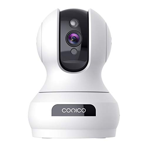 Wireless Security Camera 1536P Pet Camera, CONICO 3MP Dog Cam Baby Monitor 360° Viewing 8X Zoom, 2-Way Audio, Surveillance Camera with Motion Sound Alerts Night Vision Cloud Storage Works with Alexa