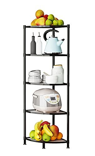 5-Tier Kitchen Corner Shelf Rack, Multi-Layer Pot Rack for Organizer Cookware Stand Stainless Steel Shelves Holder