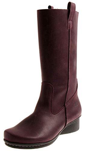 Loints 40972 Damen Elegante Lederstiefel Lederschuhe Stiefel Damenstiefel Einlagen Aubergine EU 37