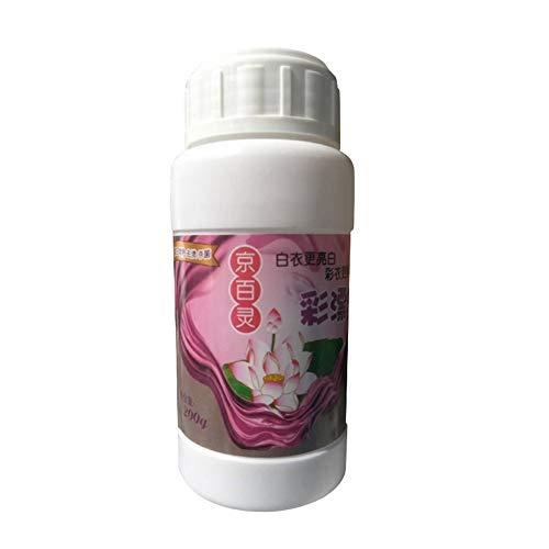 JsJr-K-In Polvo de playa, a prueba de color, quitamanchas en polvo, blanqueador, detergente fuerte, accesorios de baño (120 g/botella)