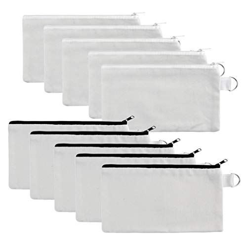 (50% OFF Coupon) Multi-Purpose Canvas Pouches 10Pcs $5.00