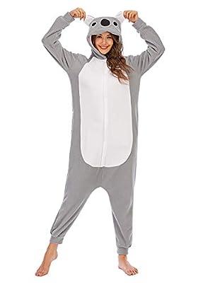 Pijamas de Animales de Una Pieza Unisexo Adulto Traje de Dormir Cosplay Pijama de Koala,LTY54,XL