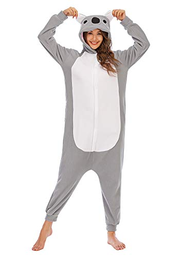 Pijamas Animales Mujer Disfraces de Cosplay para Adultos Pijama Coala Enteros, S