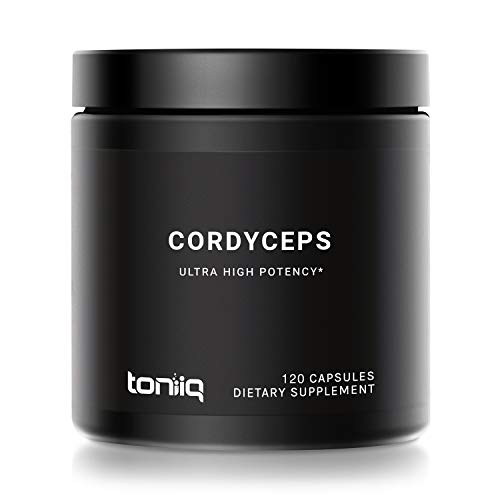 20% Cordycepic Acid Cordyceps Sinensis Capsules - 1300 mg CS-4 Strain - 40% Polysaccharides - Highly Concentrated and Highly Bioavailable - 120 Veggie Capsules