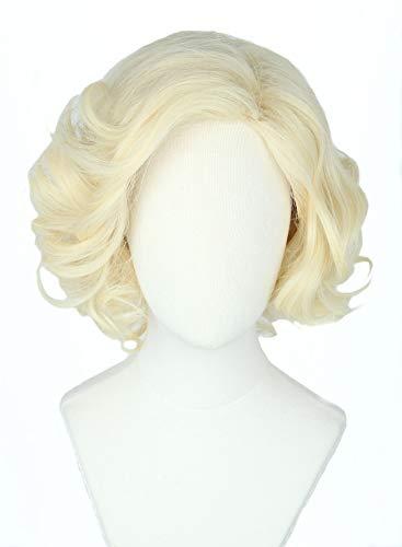 Topcosplay Women Hair Wigs Blonde Wig Short Curly Halloween Costume...