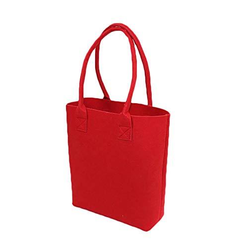 Honrik - Bolso de Tela para Mujer Rojo Rojo